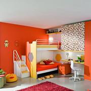 橙色靓丽的儿童房