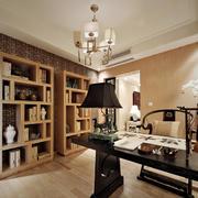 中式书房实木书柜欣赏