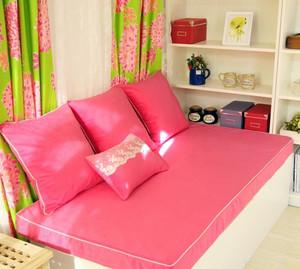 甜美80平米田园小公寓飘窗装修设计图