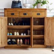 自然气息 田园风格实木小鞋柜图片