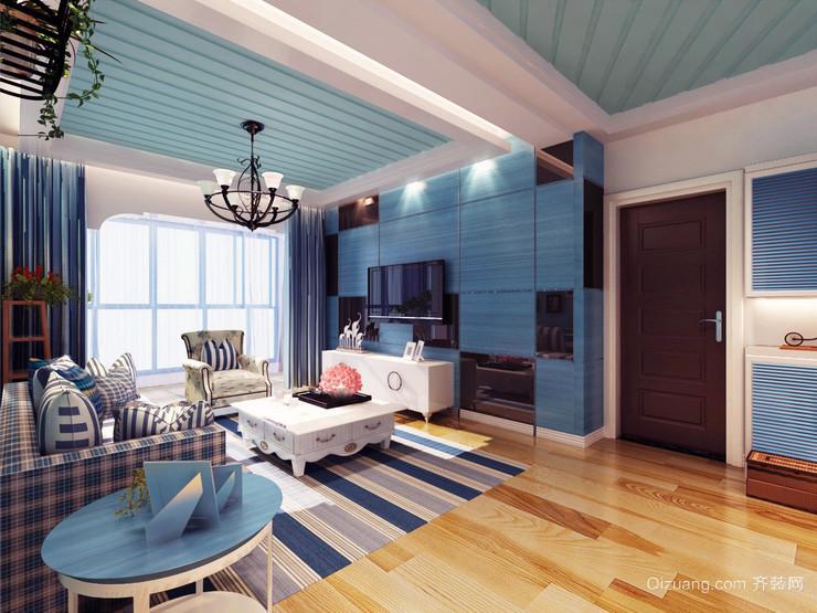 三居室地中海风格室内飘窗装修效果图