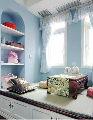 单身公寓地中海风格飘窗装修效果图鉴赏