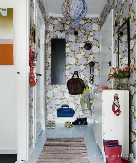 精致的三居室时尚地中海风格鞋柜装修效果图