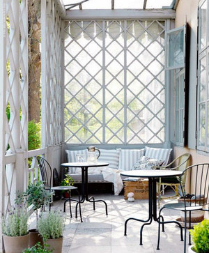 二居室地中海风格阳台装修效果图实例