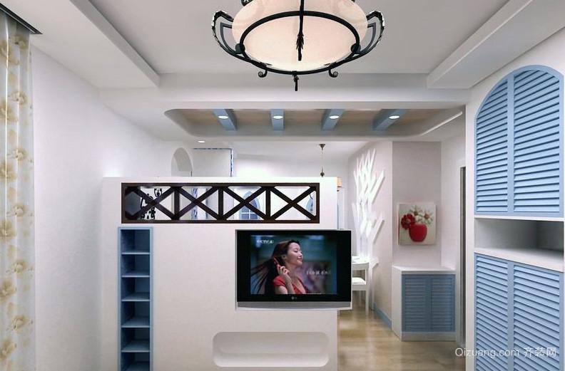 复式楼地中海风格室内鞋柜装修效果图