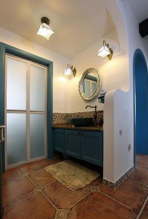 现代时尚三居室地中海风格玄关装修效果图