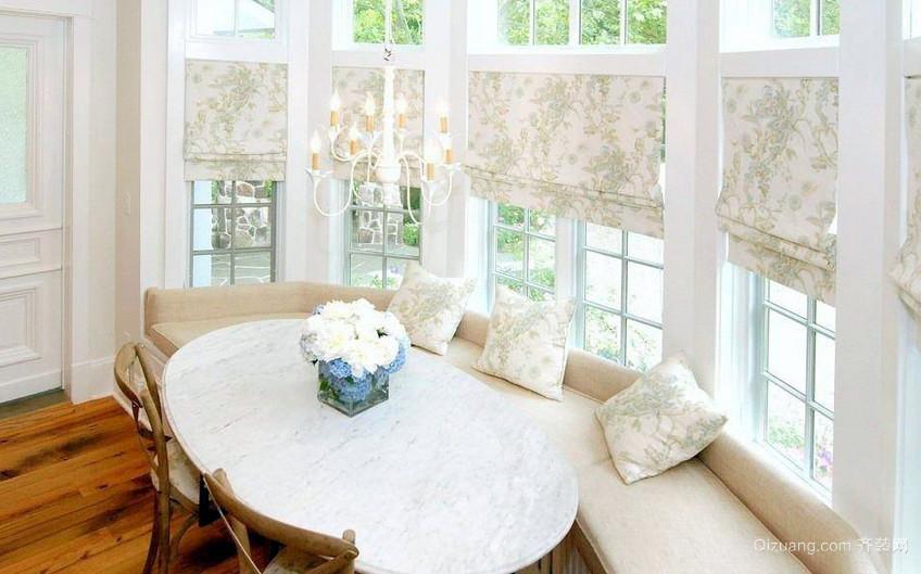 跃层式住宅田园风飘窗餐厅装修效果图