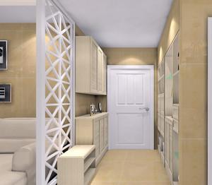 米黄色65平米家庭田园风格鞋柜图片