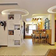 田园风格76平米家庭玄关鞋柜装修图
