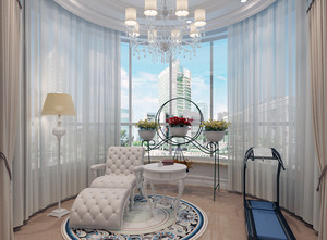100平米大户型地中海风格阳台装修效果图