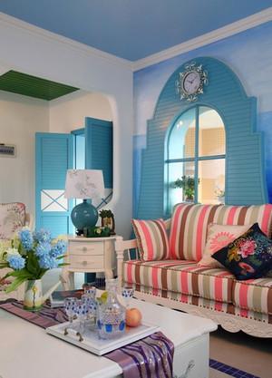 二居室精美的地中海风格飘窗装修效果图鉴赏