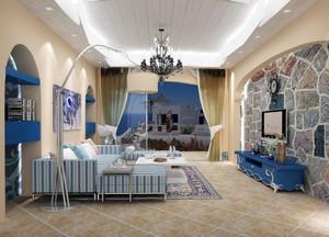 一居室地中海风格飘窗装修效果图实例欣赏