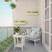 三居室唯美家庭地中海阳台装修效果图鉴赏