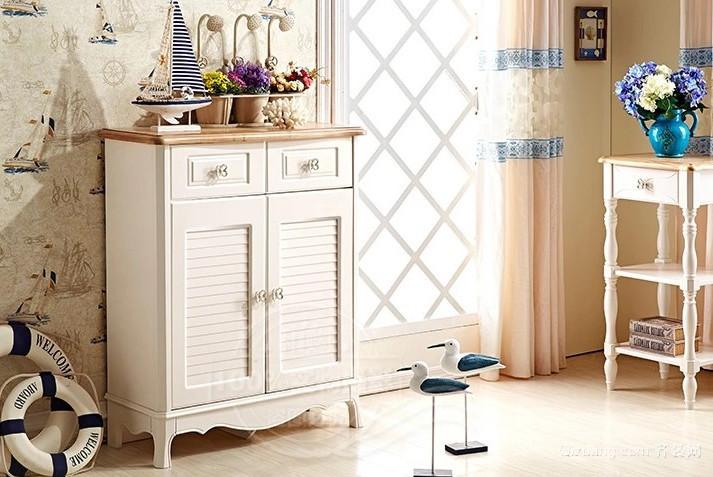 小户型精美的现代地中海风格鞋柜设计效果图高清图片