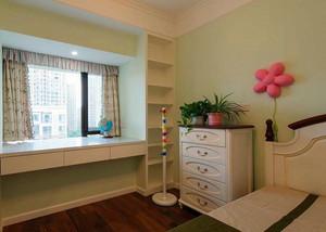 小户型田园卧室飘窗书桌装修设计效果图