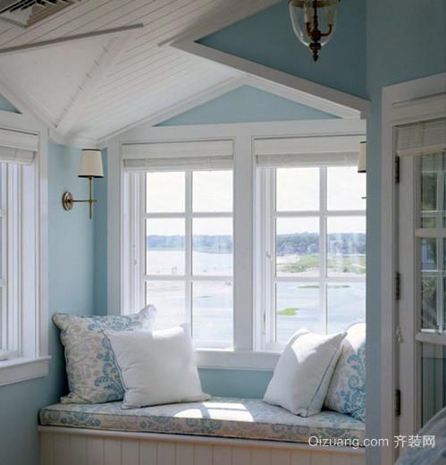 别墅型现代地中海风格飘窗装修效果图鉴赏