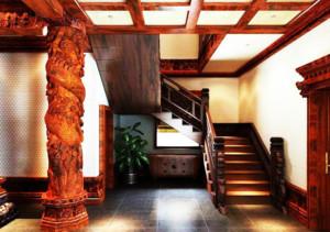100平米大户型地中海风格楼梯装修效果图