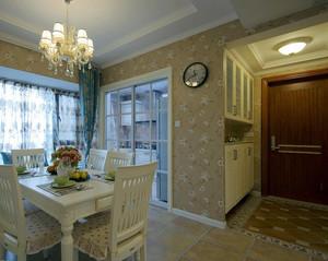 两室一厅简约田园风玄关设计效果图