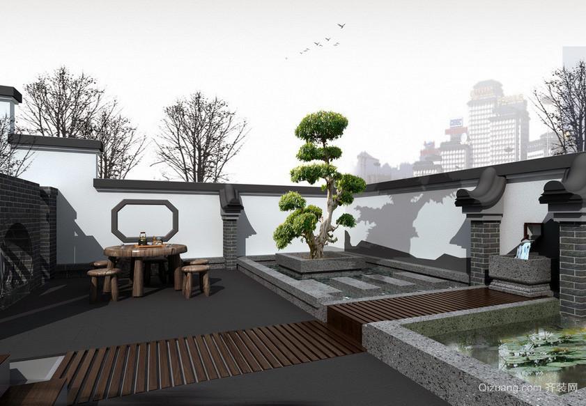 唯美大户型精美的现代入户花园装修效果图