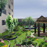 别墅型精美的现代整体花园装修效果图