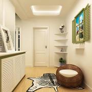 幽雅一居室公寓田园风玄关设计效果图