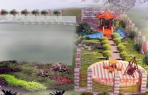 精致的现代大户型地中海风格花园装修效果图