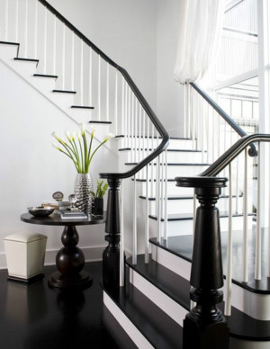 时尚的小户型地中海风格室内楼梯效果图