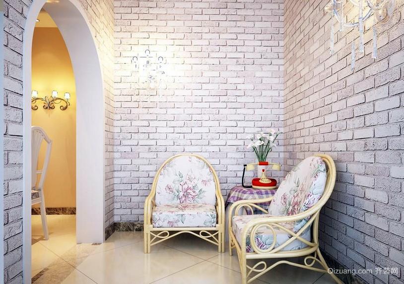 浪漫三室一厅田园风玄关设计效果图