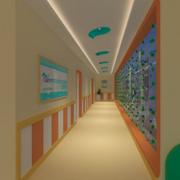 复式楼现代地中海风格室内过道装修效果图