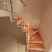 120平米现代室内地中海风格楼梯装修效果图