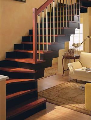 时尚的现代110平米室内楼梯装修效果图