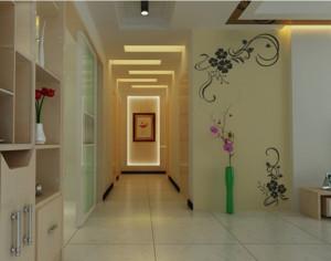 唯美的大户型现代室内过道装修效果图