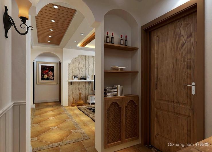 温馨75平米两居室田园玄关设计效果图