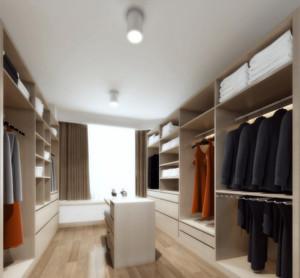 现代都市欧式风格大户型衣帽间装修效果图