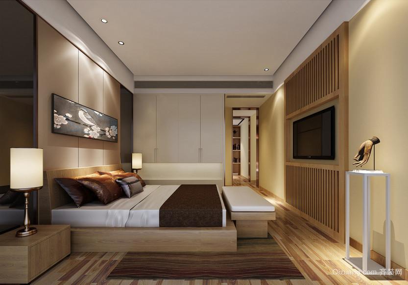 时尚的别墅型欧式卧室背景墙装修效果图