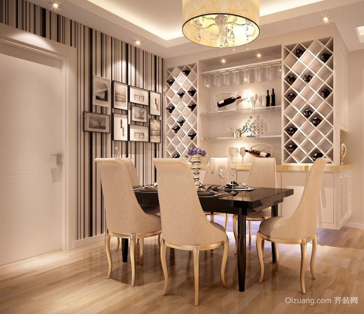 现代欧式三居室室内酒柜装修效果图鉴赏