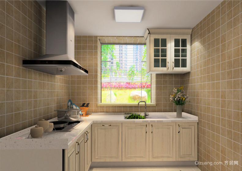 2016大户型欧式风格开放式厨房装修效果图