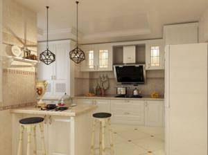 现代唯美的欧式三居室室内吧台装修效果图