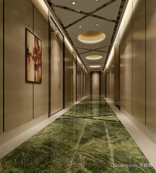 时尚的大户型欧式现代室内走廊吊顶装修效果图