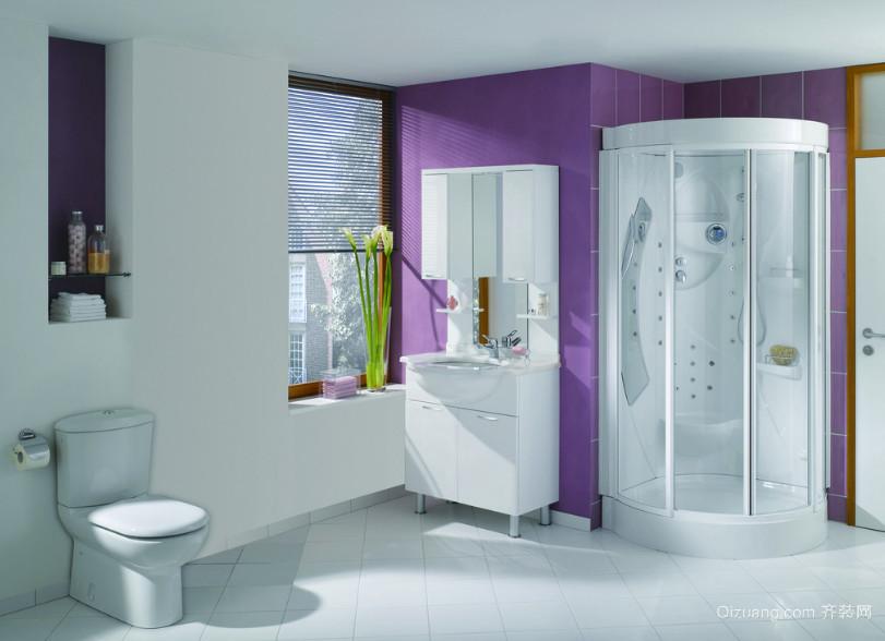 唯美时尚的欧式大户型浴室装修效果图鉴赏