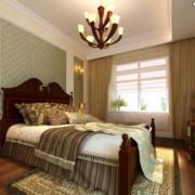 唯美美式三居室卧室吊顶装修效果图鉴赏