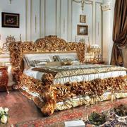 别墅夸张巴洛克风格卧室装修效果图