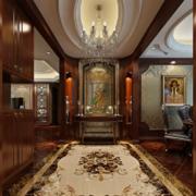 经典的美式风格别墅型室内玄关装修效果图