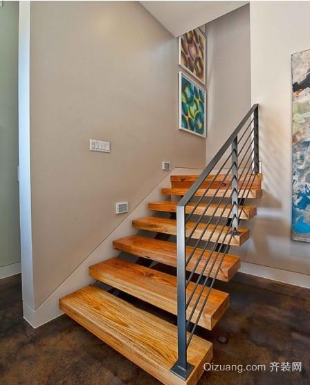 120平米高贵的美式室内楼梯装修效果图
