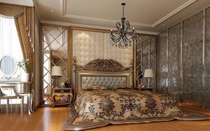 复古巴洛克风格133平米家居卧室装修图