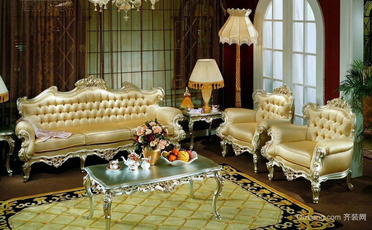 古典巴洛克风格客厅家具装修效果图
