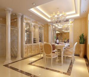 复式楼欧式风格酒柜装修效果图实例欣赏
