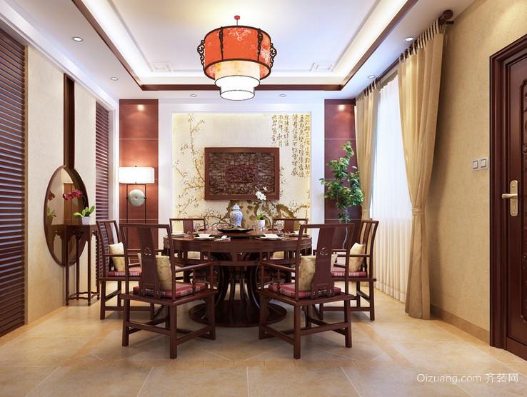 古典风格别墅唯美的餐厅背景墙装修效果图