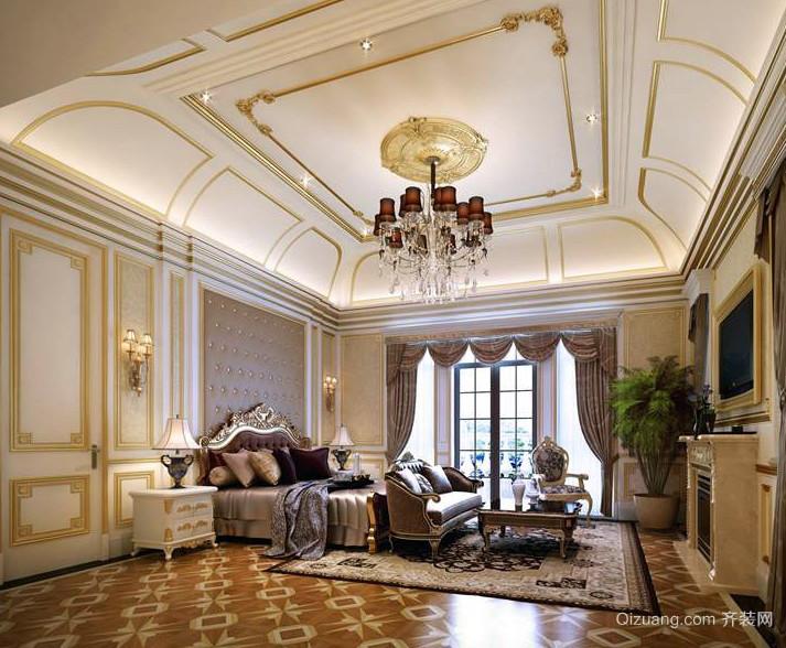 大户型别墅巴洛克风格卧室装修效果图