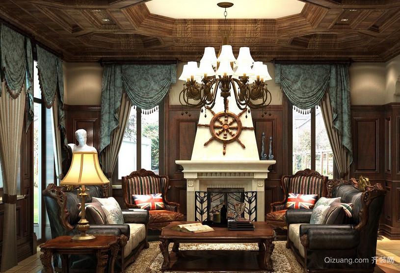 美式装修风格样板房复式楼室内装修效果图